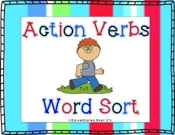 Action Verb Word Sort