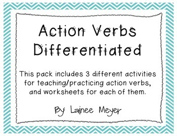 Action Verbs (3 Activities Differentiated)