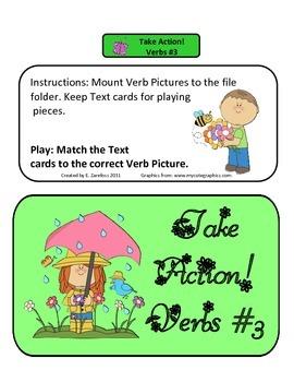 Action Verbs #3: File Folder