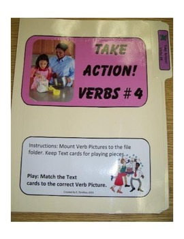 Action Verbs #4: File Folder