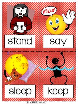 Flashcards Action Verbs