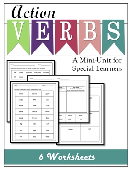 Action Verbs A Mini Lesson for Special Learners