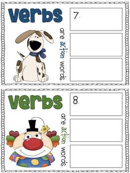 Action Verbs - A Scoot Game