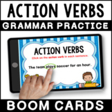 Action Verbs BOOM CARDS   Grammar Practice   Distance Learning