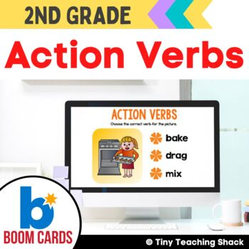 Action Verb Boom Cards Distance Learning