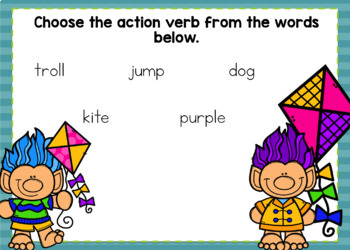 Action Verbs Boom Task Cards
