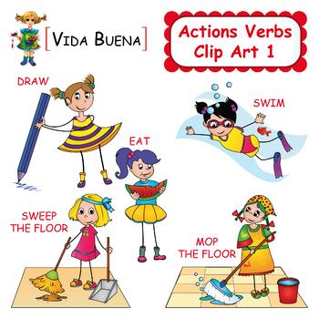 Action Verbs Clip Art 1