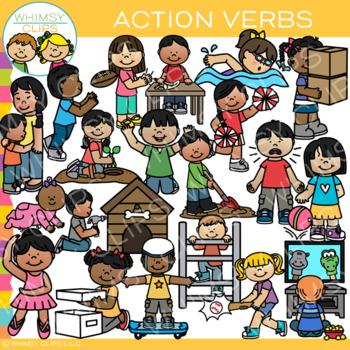 Action Verbs Clip Art