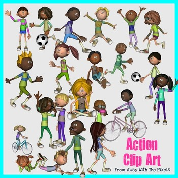 action verbs clip art for teachers now with blacklines - Action Berbs