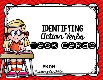 Action Verbs Complete the Sentence Task Cards