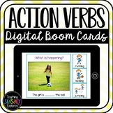 Action Verbs Digital Boom Cards (Speech Therapy Distance L