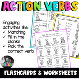 ESL Action Verbs- ESL Flashcards & Worksheets