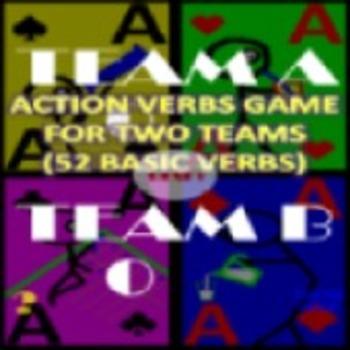 Action Verbs Flash Card Game