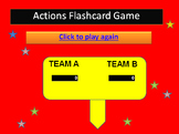 Action Verbs Flashcards PowerPoint Interactive Game ESL /
