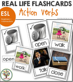 Action Verbs ESL Flashcards - Real Life Photos