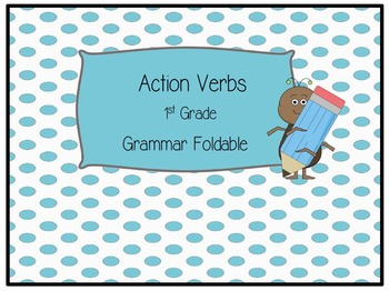 Action Verbs Foldable with Practice Sheet