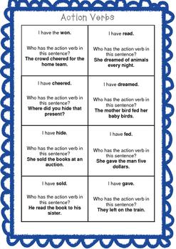 Action Verbs Game
