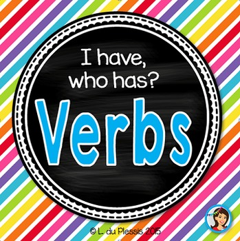 Verbs Game I Have Who Has FREE