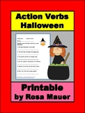 Action Verbs Halloween Printable