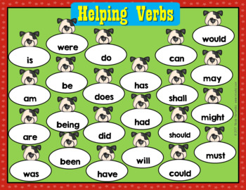 Action Verbs, Helping Verbs & Linking Verbs - Posters, Center Activity & Sheets