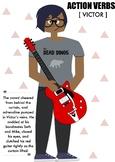 Action Verbs // High-Interest Short Story, Poster, & Activities