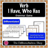 Action Verbs Game - I Have Who Has {Differentiated}