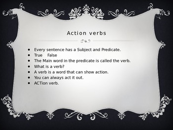 Action Verbs Interactive Power Point