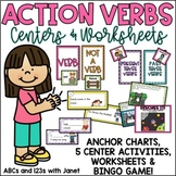 Action Verbs! {K-2 activities}
