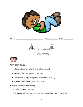 Action Verbs Lessons