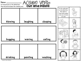 Action Verbs {No Prep Practice}