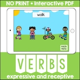 Action Verbs No Print Interactive PDF