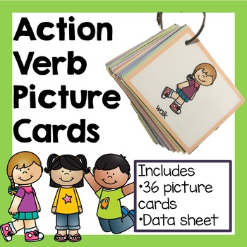 Action Verbs Picture Cards