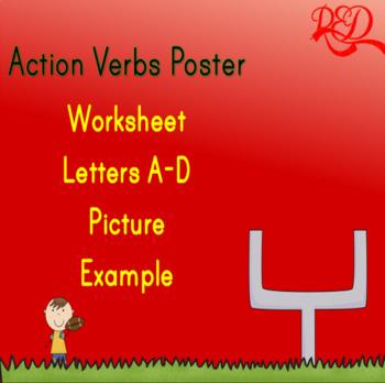 Action Verbs Poster A-D