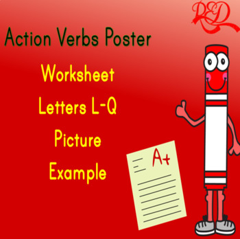 Action Verbs Poster L-Q