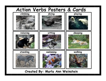 Action Verbs Posters & Cards