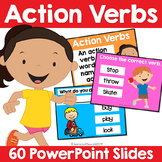 Action Verbs PowerPoint - L.K.1, L.1.1