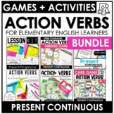 Action Verbs | Present Continuous Games | Activities | Wor