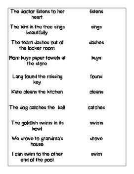 Action Verbs Quiz Quiz Trade