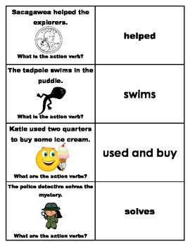 Action Verbs Flashcards (Review cards)