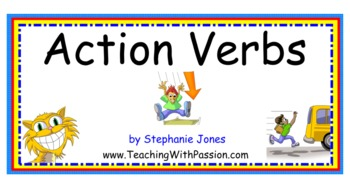 Action Verbs SMART Notebook Lesson