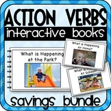 Action Verbs (SVO) Interactive Adapted Books Bundle