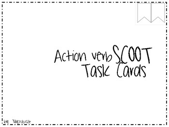 Action Verbs Scoot Task Cards