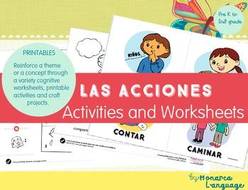 Las Acciones y los Verbos de Acción- Action Verbs in Spanish