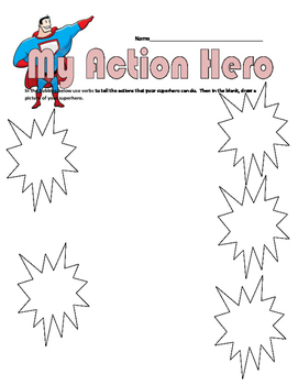 Action Verbs Superhero