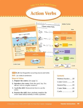 Action Verbs (Take It to Your Seat Centers: Common Core Language)