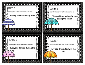 Action Verbs Task Cards