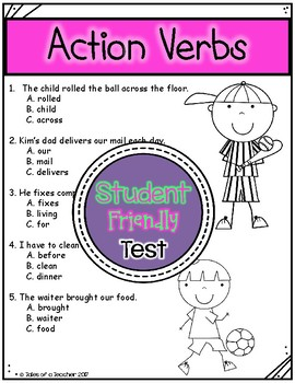 Action Verbs Test