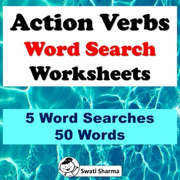 Action Verbs, Word Search Worksheets
