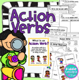 Action Verbs Worksheets and Sort Cards