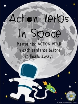 Action Verbs in Space - scavenger hunt